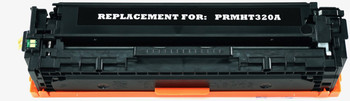 This is the front view of the Hewlett Packard 128A black replacement laserjet toner cartridge by NXT Premium toner