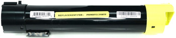 This is the front view of the Dell T222N yellow replacement laserjet toner cartridge by NXT Premium toner