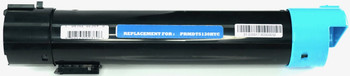 This is the front view of the Dell P614N cyan replacement laserjet toner cartridge by NXT Premium toner