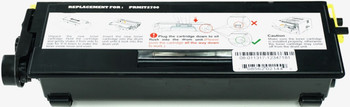 This is the front view of the Pitney Bowes 484-5 black replacement laserjet toner cartridge by NXT Premium toner