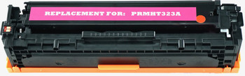This is the front view of the Hewlett Packard 128A magenta replacement laserjet toner cartridge by NXT Premium toner