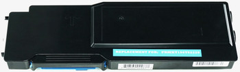 This is the front view of the Xerox 106R02225 cyan replacement laserjet toner cartridge by NXT Premium toner