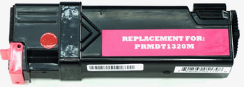 This is the front view of the Dell KU055 magenta replacement laserjet toner cartridge by NXT Premium toner
