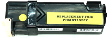 This is the front view of the Dell KU054 yellow replacement laserjet toner cartridge by NXT Premium toner
