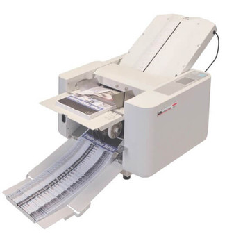 The MBM 408A Automatic paper folder is a dependable programmable folder that comes pre-programmed with 36 standard folds. Up to 12 custom jobs can be stored in memory.