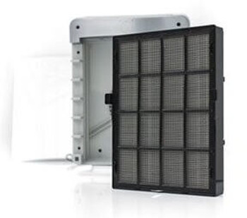 This is an image of the Ideal AP45 air purifier and the filter that goes with it.
