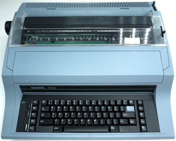 Front view of the Swintec 7000 heavy-duty typewriter.
