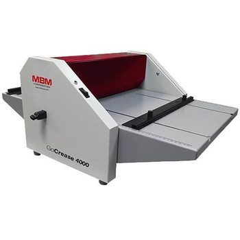 Front view of the MBM GoCrease 4000 Creasing, Scoring and Perforating Machine