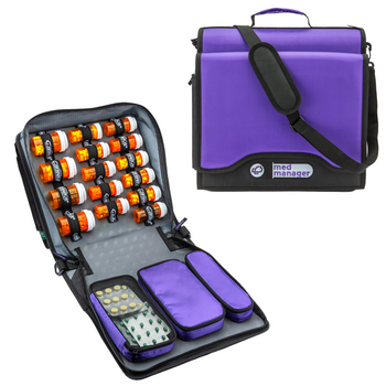 """Med Manager for Diabetics - Insulated Portable Pill Organizer (13"""" x 13"""" x 5"""")"""