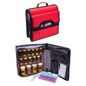 """Med Manager Deluxe - Portable Pill Organizer (13"""" x 13"""" x 4.5"""")"""