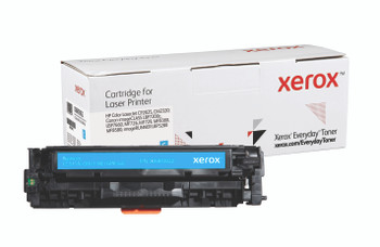 Cyan Standard Yield Everyday Toner from Xerox, replacement for HP CC531A, Canon CRG-118C, GPR-44C Yields 2,800 pages