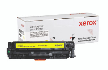 Yellow Standard Yield Everyday Toner from Xerox, replacement for HP CC532A, Canon CRG-118Y, GPR-44Y Yields 2,800 pages