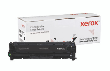 Black Standard Yield Everyday Toner from Xerox, replacement for HP CF380A Yields 2,400 pages
