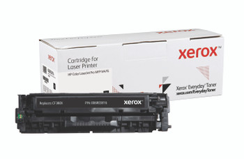 Black High Yield Everyday Toner from Xerox, replacement for HP CF380X Yields 4,400 pages