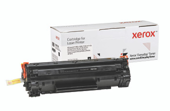 Black Standard Yield Everyday Toner from Xerox, replacement for HP CB435A, CB436A, CE285A, Canon CRG-125 Yields 2,000 pages