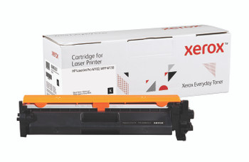 Black Standard Yield Everyday Toner from Xerox, replacement for HP CF217A Yields 1,600 pages