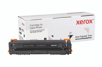 Black High Yield Everyday Toner from Xerox, replacement for HP CF500X Yields 3,200 pages