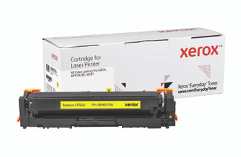 Yellow High Yield Everyday Toner from Xerox, replacement for HP CF502X Yields 2,500 pages