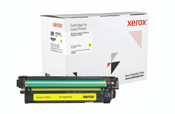 Yellow Standard Yield Everyday Toner from Xerox, replacement for HP CE262A Yields 11,000 pages