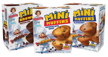 Little Debbie Mini Muffin Bundle includes 1 box each of Chocolate Chip, Blueberry, and Chocolate Brownie Mini Muffins