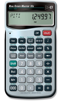 Front face of Calculated Industries Real Estate Master IIIx Calculator