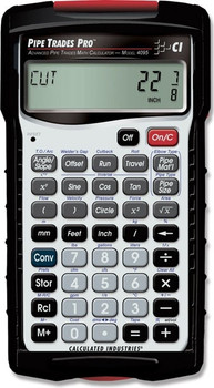 Front face of Calculated Industries Pipe Trades Pro calculator