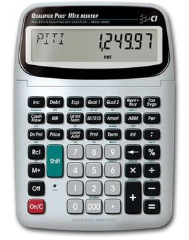 Front face of Calculated Industries Qualifier Plus IIIfx Desktop calculator