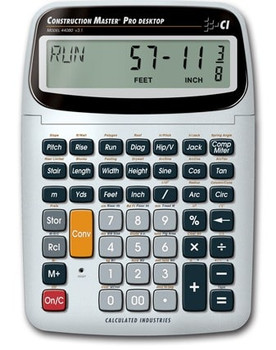 Front face of Calculated Industries Construction Master Pro Desktop Calculator