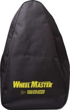 Front face of Calculated Industries backpack for Wheel Master Pro and Classic