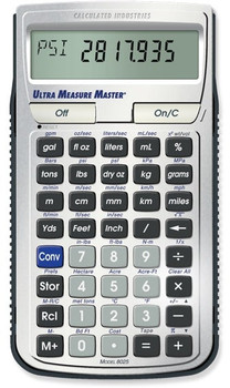 Front face of the Ultra Measure Master Calculator