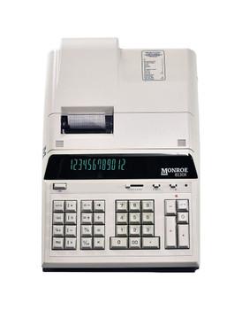 Front view of Monroe 8130X Ivory Print Calculator/Adding Machine