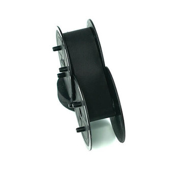 Top view of GRC E201 black TWO-SPOOL UNIVERSAL PRINTING CALCULATOR RIBBONS (C-WIND)