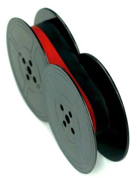 Front view of GRC T5 black and red UNIVERSAL CLOTH TYPEWRITER RIBBON