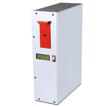 This is a picture of the MBM Destroyit Hard Drive Degausser. It magnetically degausses hard drives from PCs, laptops, notebooks, printers, copiers, and PDAs in a quick and efficient manor.
