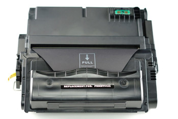This is the front view of the HP 42A replacement laserjet toner cartridge by NXT Premium toner