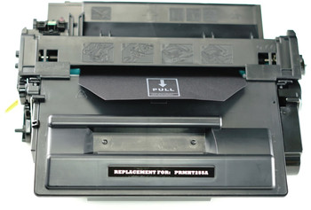 This is the front view of the HP 55A replacement laserjet toner cartridge by NXT Premium toner