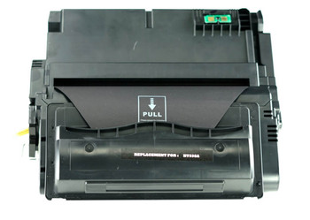 This is the front view of the Hewlett Packard 38A replacement laserjet toner cartridge by NXT Premium toner