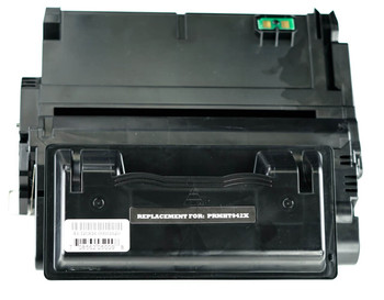 This is the front view of the Hewlett Packard 42X black replacement laserjet toner cartridge by NXT Premium toner