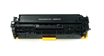 This is the front view of the Hewlett Packard 305A black replacement laserjet toner cartridge by NXT Premium toner