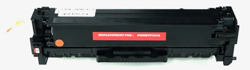 This is the front view of the Hewlett Packard 312A magenta replacement laserjet toner cartridge by NXT Premium toner