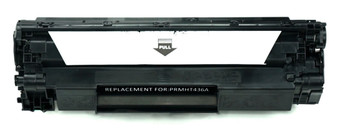 This is the front view of the Hewlett Packard 36A black replacement laserjet toner cartridge by NXT Premium toner