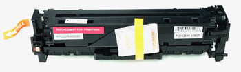 This is the front view of the Hewlett Packard 304A magenta replacement laserjet toner cartridge by NXT Premium toner