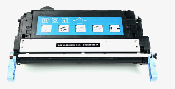 This is the front view of the Hewlett Packard 643A black replacement laserjet toner cartridge by NXT Premium toner