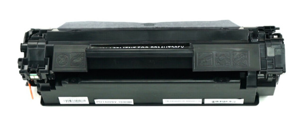 This is the front view of the Hewlett Packard 85X black replacement laserjet toner cartridge by NXT Premium toner