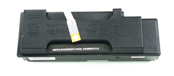 This is the front view of the Kyocera TK-312 black replacement laserjet toner cartridge by NXT Premium toner