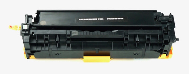 This is the front view of the Hewlett Packard 312A black replacement laserjet toner cartridge by NXT Premium toner