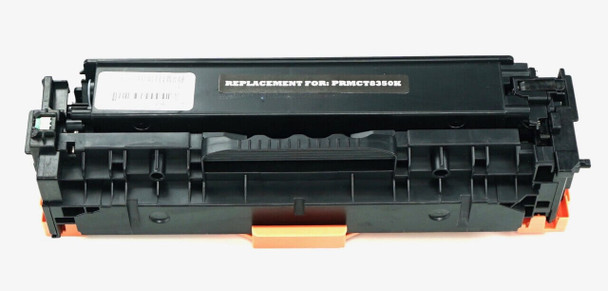 This is the front view of the Canon 118 black replacement laserjet toner cartridge by NXT Premium toner