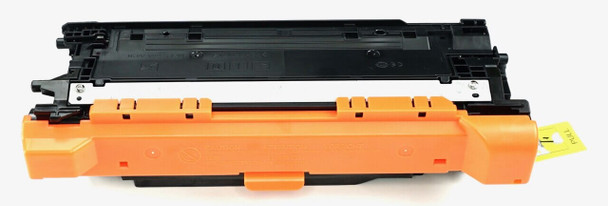 This is the front view of the Hewlett Packard 507A black replacement laserjet toner cartridge by NXT Premium toner
