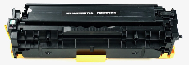 This is the front view of the Hewlett Packard 312X black replacement laserjet toner cartridge by NXT Premium toner