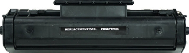This is the front view of the Canon FX-3 black replacement laserjet toner cartridge by NXT Premium toner
